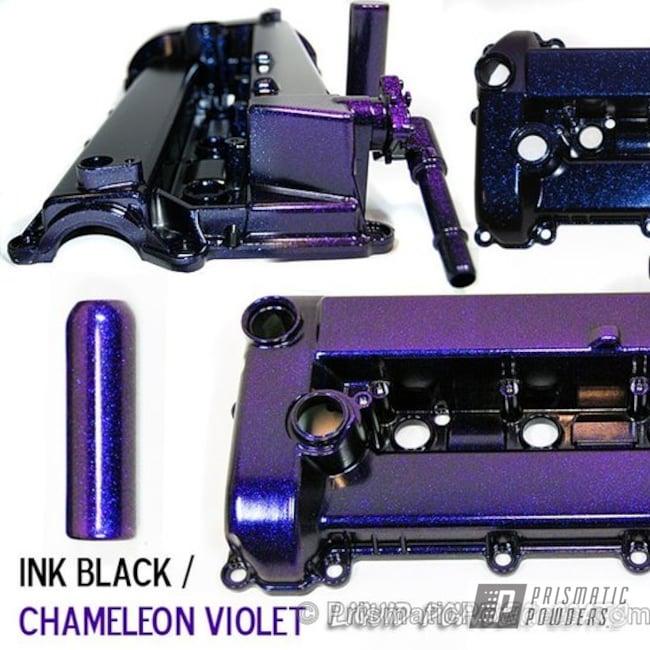 Powder Coating: Automotive,Chameleon Violet PPB-5731,Ink Black PSS-0106