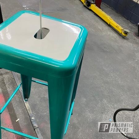 Powder Coating: Pool Chairs,Stools,HD TEAL UPB-1848,Gloss White PSS-5690,Bar Stools
