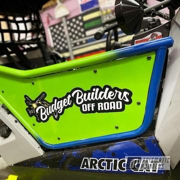 Wildcat Utv Doors Powder Coated In Inline-4 And Boron Blue