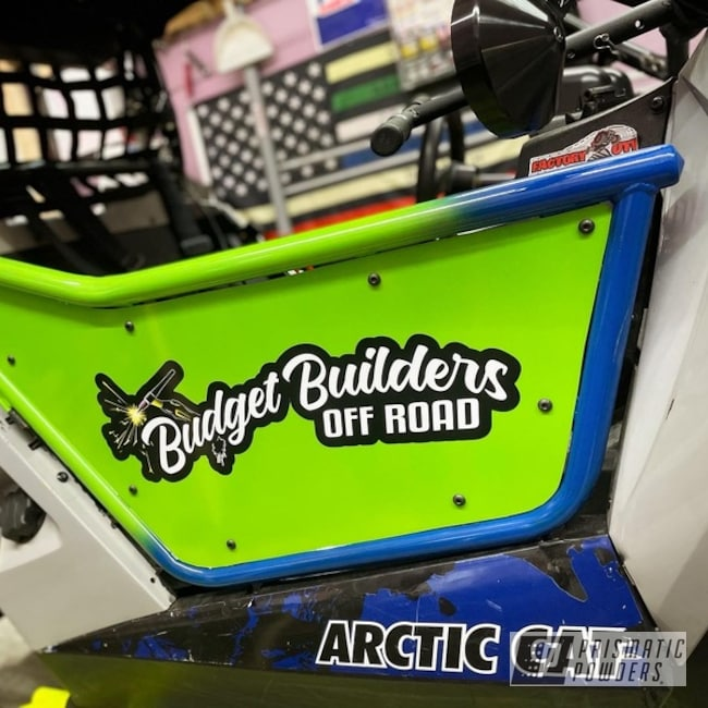 Wildcat Utv Doors Powder Coated In Inline-4 And Boron Blue