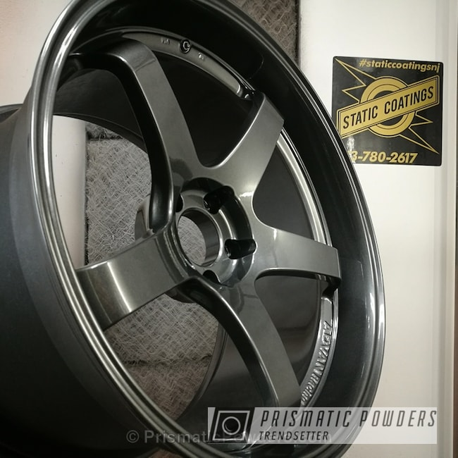 Powder Coating: Wheels,Advan Wheels,Automotive,Clear Vision PPS-2974,Clear Coat Used,Speedway Grey PMB-4911,Solid Tone