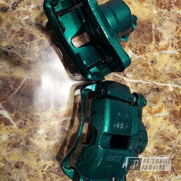 Brake Calipers Powder Coated In Ultra Illusion Green