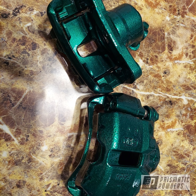 Powder Coating: Automotive,Calipers,Toyota,Ultra Illusion Green PMB-5346