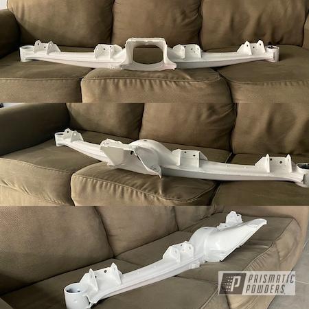 Powder Coating: Automotive,BMW,Gloss White PSS-5690,subframe,Suspension
