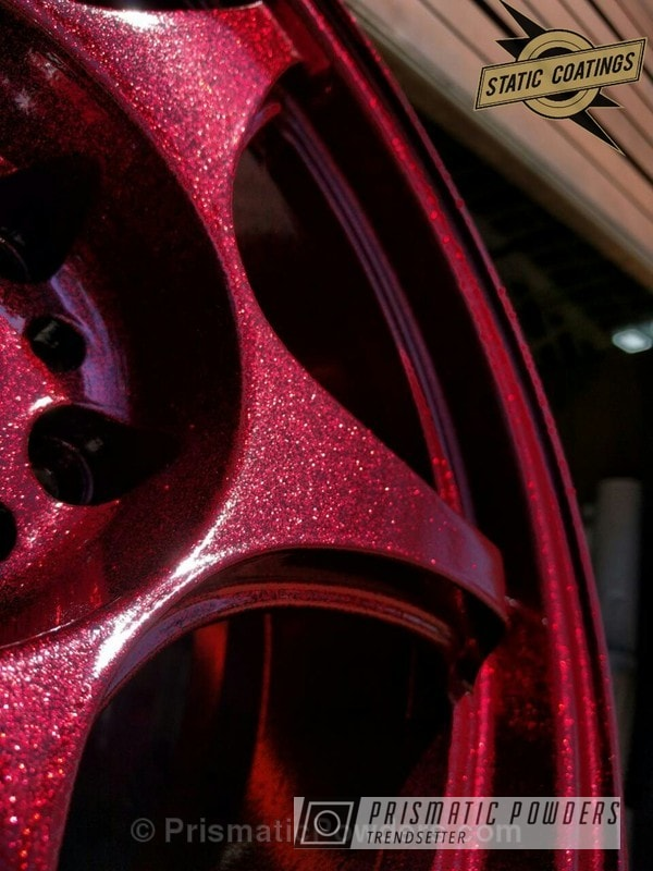Powder Coating: Wheels,Automotive,Clear Vision PPS-2974,Custom Wheels,Clear Coat Used,Super Red Sparkle PPB-4694