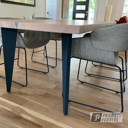 Powder Coating: MATTE CLEAR PPB-4509,Table,Custom Table,RAL 5008 Grey Blue