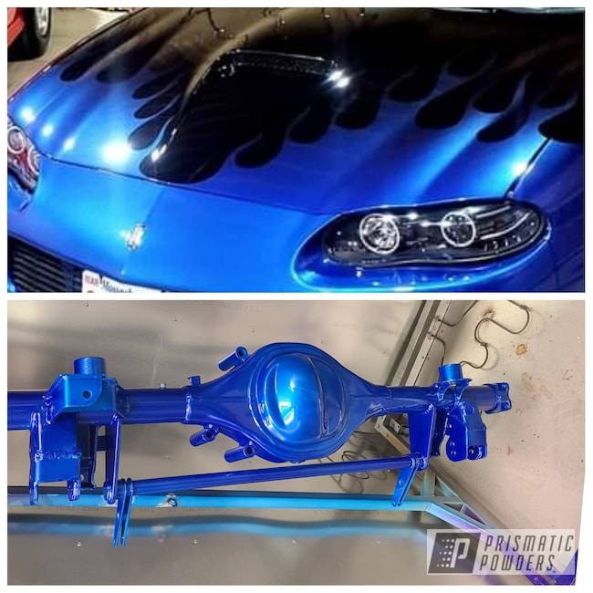 Powder Coating: Automotive,Clear Vision PPS-2974,Chevrolet,2 Stage Application,Illusion Blueberry PMB-6908,Camaro