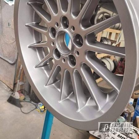 """Powder Coating: BMW Silver PMB-6525,Automotive,17"""" Aluminum Rims,BMW,Aluminum Wheels"""