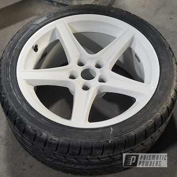 Ford Mustang Wheel Coated In Mushroom White