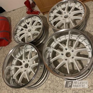 Powder Coated S2000 Vss Aluminum Wheels In Polar White