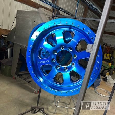 "Powder Coating: Crawler,Automotive,4x4,Alloy Wheels,20"" Wheels,ANODIZED BLUE UPB-1394,Race Line Wheels,Jeep,Beadlock"