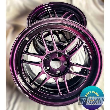 "Powder Coating: Wheels,Two Stage Application,Kranberry Krackle PPB-5107,Rims,17"" Aluminum Rims,Ink Black PSS-0106,Aluminum Wheels"
