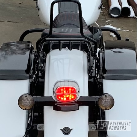 Powder Coating: Fenders,handlebars,Fuel Tank,Harley Davidson,Alloy Wheels,Motorcycle Parts,Accessories,GLOSS BLACK USS-2603,Polar White PSS-5053,Restoration,Motorcycles,Road King