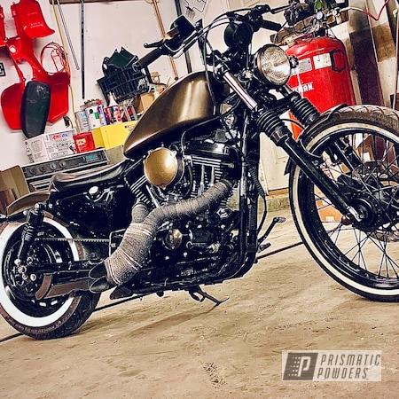 "Powder Coating: Fenders,Harley Davidson Parts,TRIPLE BRONZE UMB-4548,17"" Aluminum Rims,GLOSS BLACK USS-2603,Motorcycle Tank,21"" Steel Wheels,Casper Clear PPS-4005"