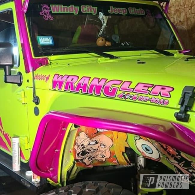 Powder Coating: Fenders,Automotive,Candy Raspberry PPB-5935,Accessories,SUPER CHROME II PSS-10300,Jeep,Jeep Accessories,Jeep Accent,Wrangler