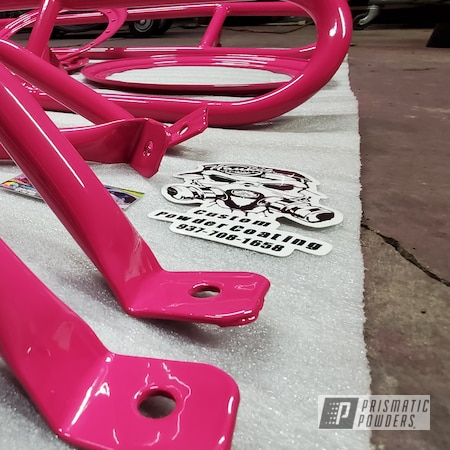 Powder Coating: Automotive,Passion Pink PSS-4679,Beadlock Ring,Race Car,Car Parts