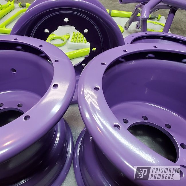Powder Coating: Chartreuse Sherbert PSS-7068,Accessories,450r,Easter Lavender PMB-0566,4 Wheeler