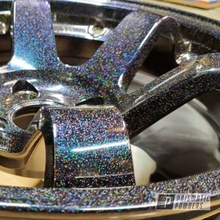 "Powder Coating: Wheels,Two Stage Application,Rims,City Lights PMB-2689,15"" Aluminum Rims,Chameleon Sapphire Teal PPB-5732"