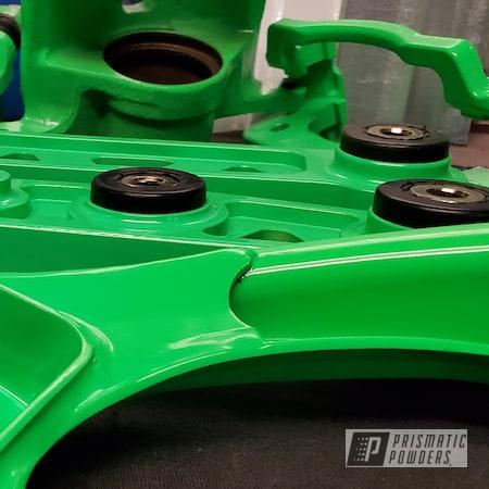 Powder Coating: Wheels,Automotive,Suspension Parts,Civic,Bright Green PSB-5945