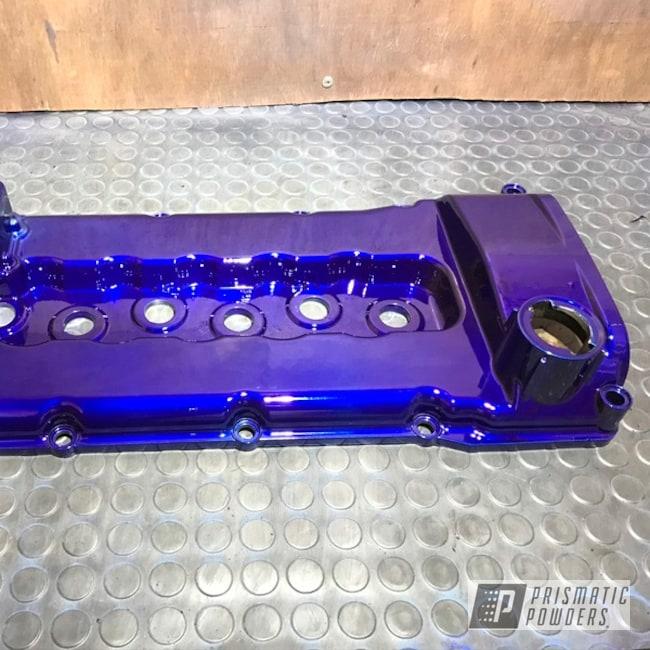 Powder Coating: Automotive,VR6 Engine,Cam Cover,Car Parts,VW,Bentley Blue PPB-4711