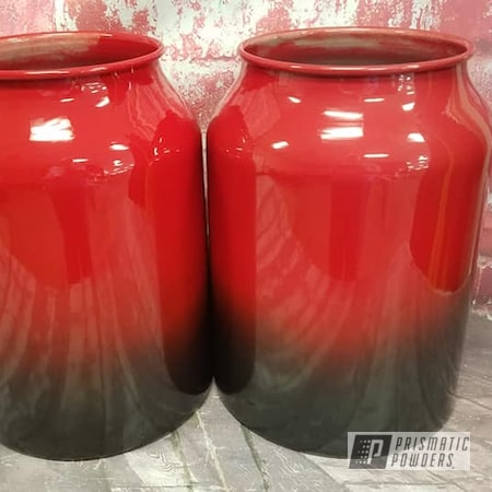 Powder Coating: Evo Grey PMB-5969,Clear Vision PPS-2974,2 Color Application,Color Fade,Home Decor,Aluminum Cans,Fade,RAL 3002 Carmine Red,Interior Decorations