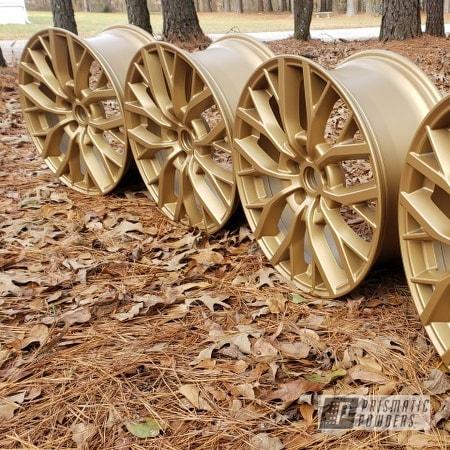 "Powder Coating: Wheels,19"" Wheels,Rims,Satin Poly Gold PMB-6487,Aluminum Wheels"