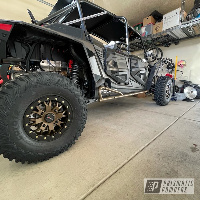 Powder Coating: Wheels,Sliders,Automotive,Polaris RZR,Alloy Wheels,Accessories,Alpine Bronze PMS-4645,Polaris,RZR,Aluminum Wheels
