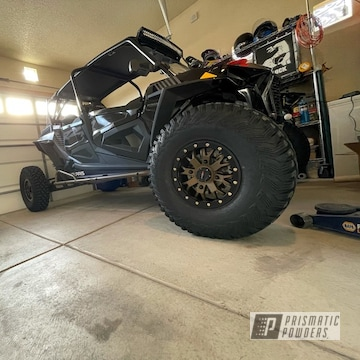 Powder Coated Polaris Rzr Wheels And Sliders In Pms-4645