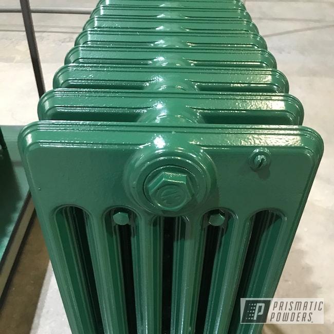 Powder Coating: Cast Iron Radiator,House hold Radiator,Radiators,Radiator,Restoring Vintage Radiators,D'Kana Green PSB-6813,Household