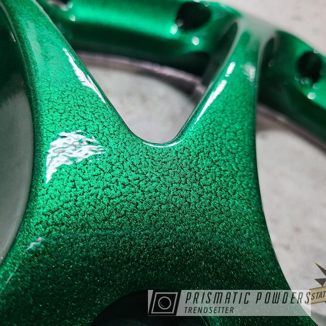 Powder Coating: Wheels,Automotive,Alloy Wheels,Clear Vision PPS-2974,Rims,SSR,Fractured Green PVB-10298,Illusions