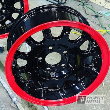 Powder Coated Two Tone Wheels In Uss-2603 And Pss-1738