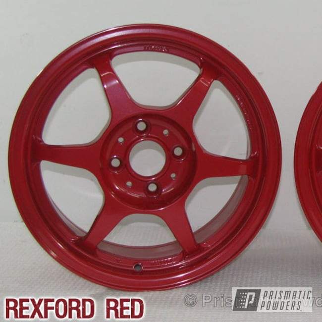 Powder Coating: Wheels,Custom,red,powder coating,powder coated,Prismatic Powders,Rexford Red PMB-1634