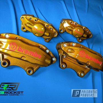 Powder Coated Sti Brembo Brake Calipers In Pmb-6921 And Pps-2974