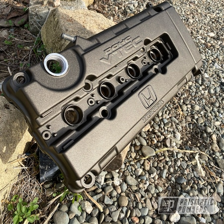 Powder Coating: Automotive,Oil Rubbed Bronze Light PCB-4333,Honda,Valve Cover,B Series