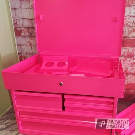 Powder Coating: Toolbox,Tool Chest,Tools,Mechanics Chest,Storage,Sassy PSS-3063,Sassy,Pink