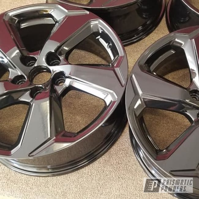 "Powder Coating: Wheels,Automotive,Ink Black PSS-0106,Aluminum Rims,18"" Aluminum Rims,Automotive Rims,Automotive Wheels"