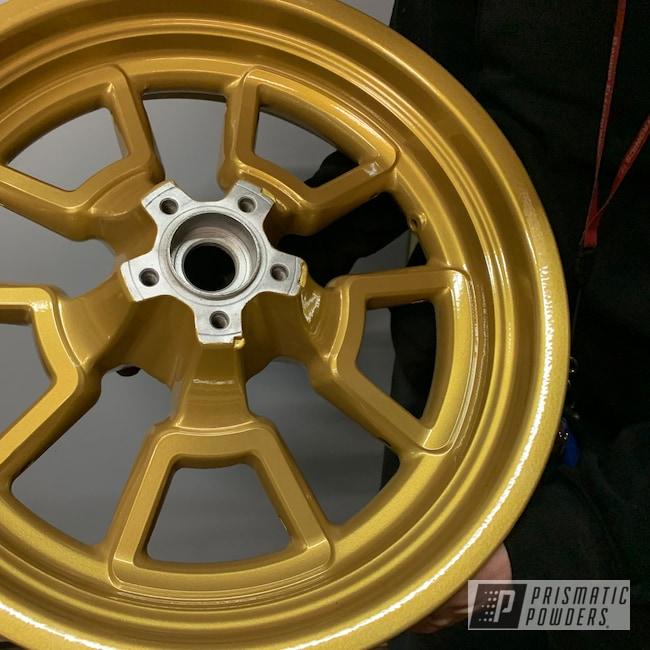Powder Coating: Wheels,Goldtastic PMB-6625,Clear Vision PPS-2974,Motorcycle Wheels,Motorcycle Rim,Automotive Rims