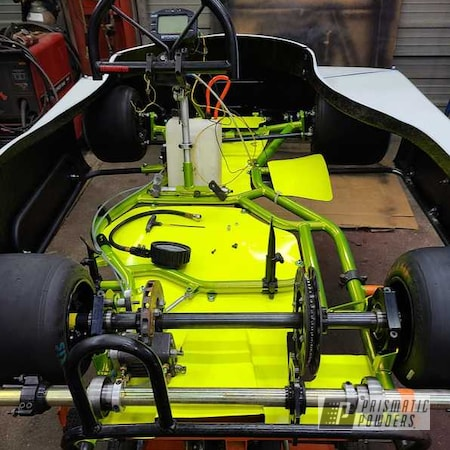Powder Coating: Kart,Racing,Kart Frame,Shocker Yellow PPS-4765
