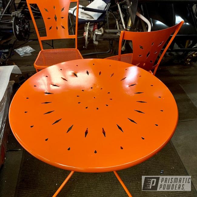 Powder Coating: Patio Table,Patio Furniture,International Orange PSS-2779,Orange,Outdoor Patio Furniture