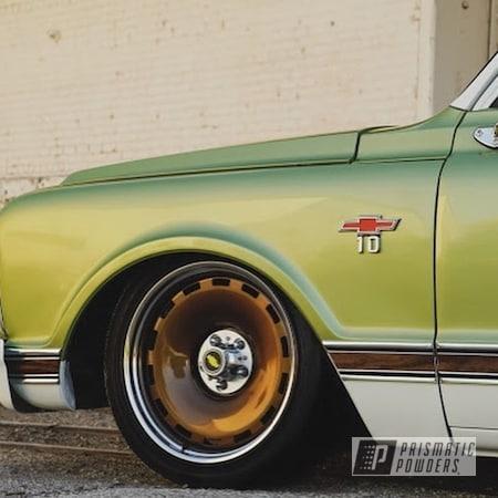 Powder Coating: Wheels,Clear Vision PPS-2974,Custom Wheels,Chevrolet,Rims,Restoration,Super Rootbeer PMB-6335,Chevy,Custom Truck