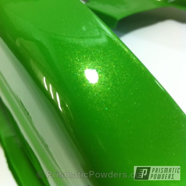 Powder Coating: Automotive,Clear Vision PPS-2974,Lime Juice Green PMB-2304