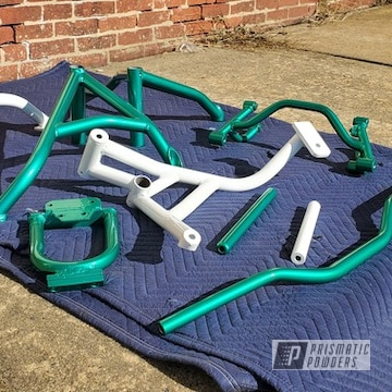 Powder Coated Motorcycle Stunt Cage Parts In Pps-5161 And Ral 9016