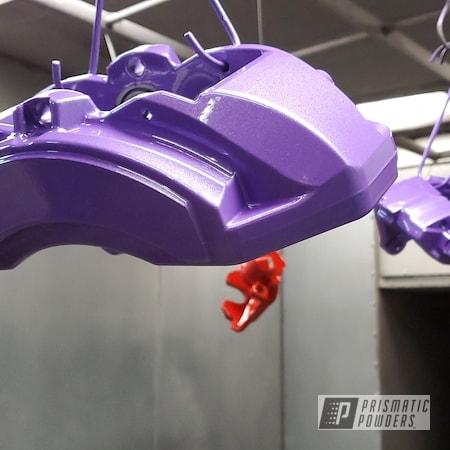 Powder Coating: Automotive,Brake Calipers,SRT,Brembo Brake Calipers,Pro-Cosmic Purple PMB-1982