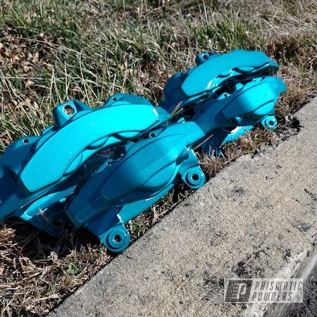Powder Coating: WRX,Automotive,Brakes,Heavy Silver PMS-0517,MAGIC TEAL UPB-4568