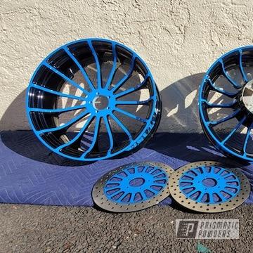 Powder Coated Two Tone Wheels And Brake Rotors