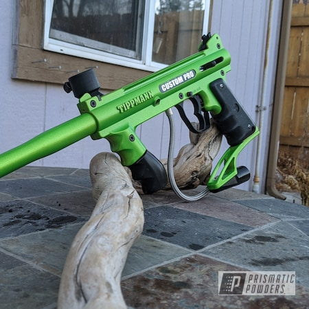 Powder Coating: Soft Clear PPS-1334,Paintball Gun,Illusion Sour Apple PMB-6913,Paintball Marker,Paintball