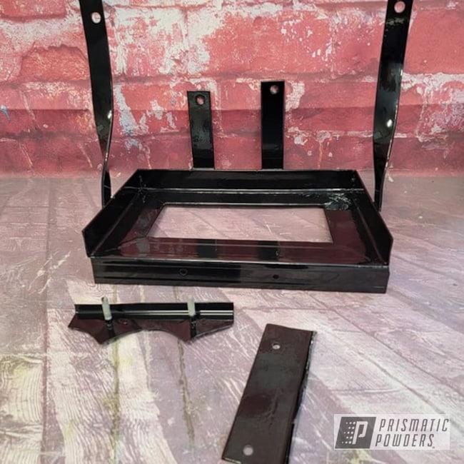 Powder Coating: Automotive,Ink Black PSS-0106,Battery Box,Automotive Parts