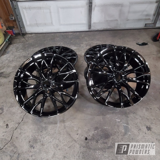 Powder Coating: Wheels,Lexus,Rims,GLOSS BLACK USS-2603,ISF,Aluminum Wheels