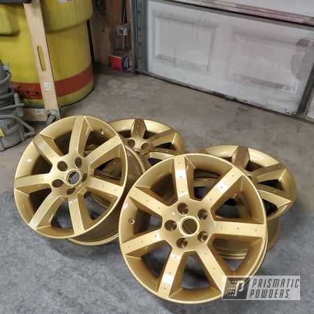 "Powder Coating: Wheels,350z,Clear Vision PPS-2974,Nissan,Rims,17"" Aluminum Rims,Spanish Gold EMS-0940"