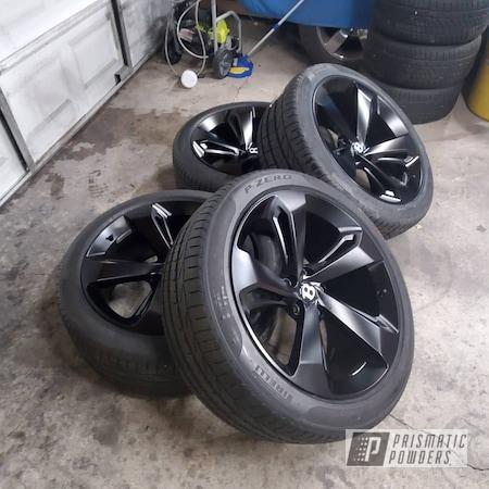 "Powder Coating: Wheels,Bentayga,Rims,22"",Silk Satin Black HSS-1336,Bentley"